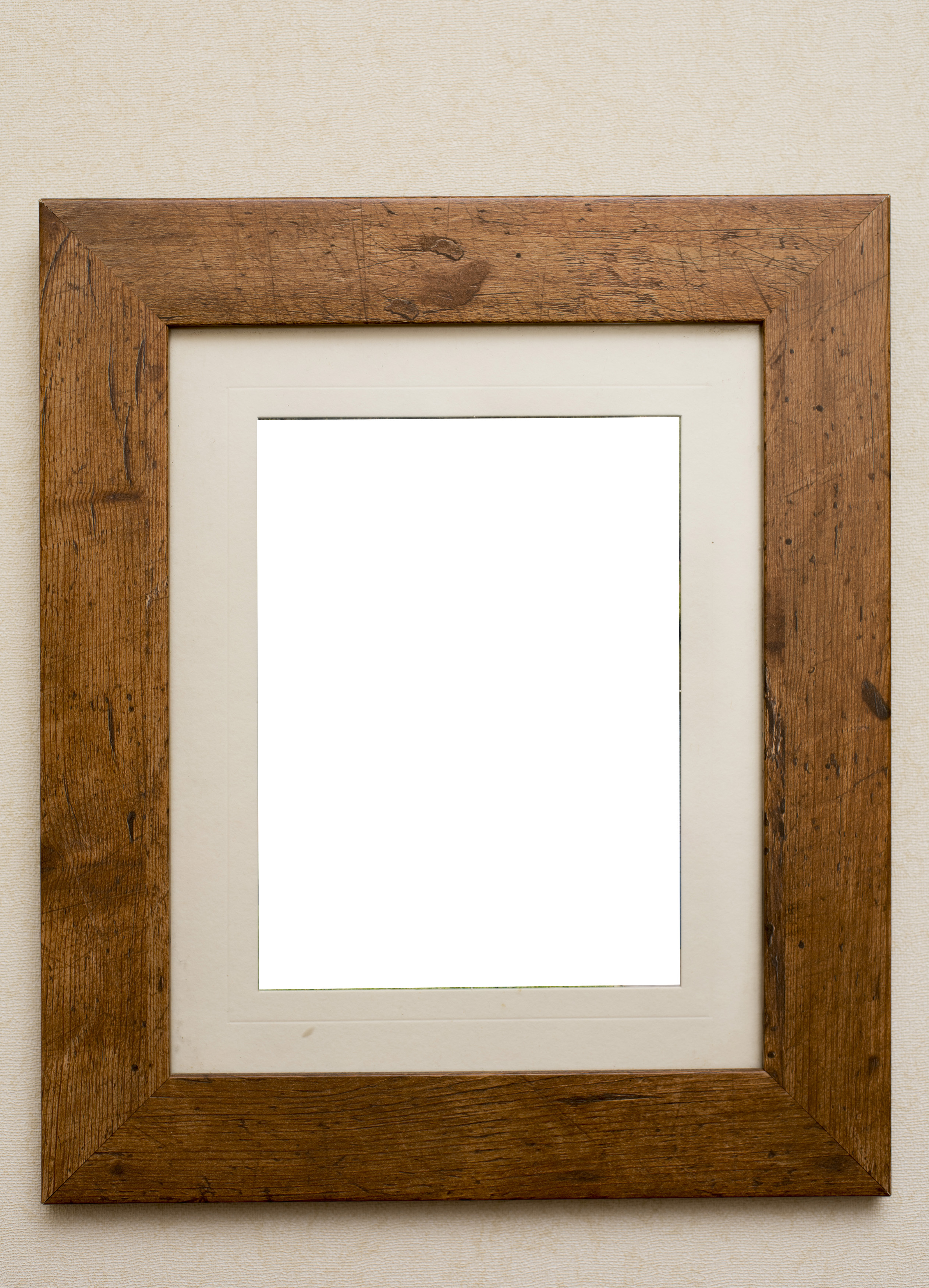 free image of plain rustic wooden picture frame