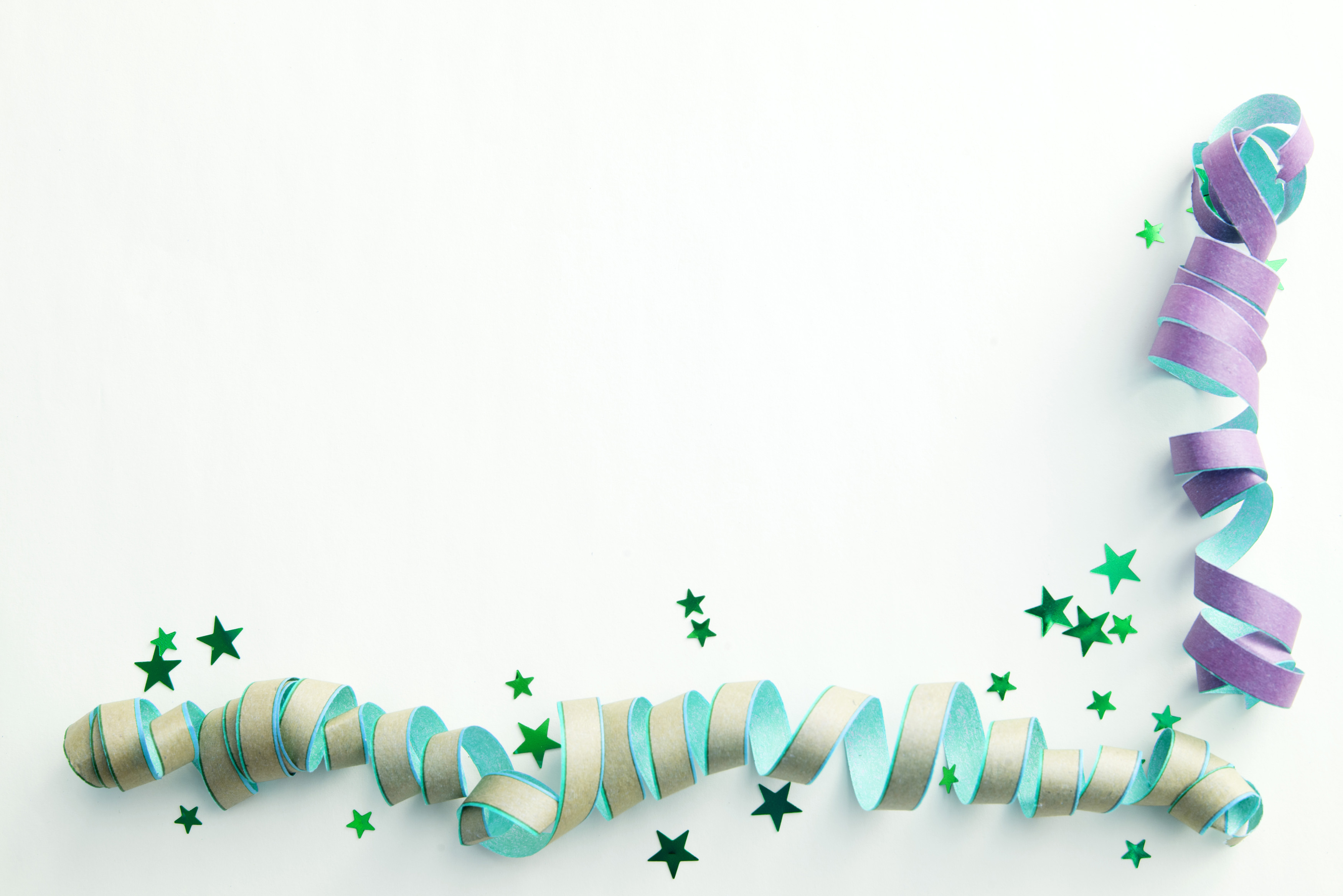 free image of streamers corner border party background