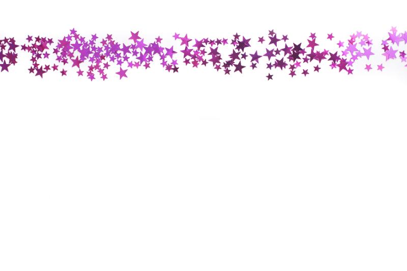 Free image of scattered pink stars border on white