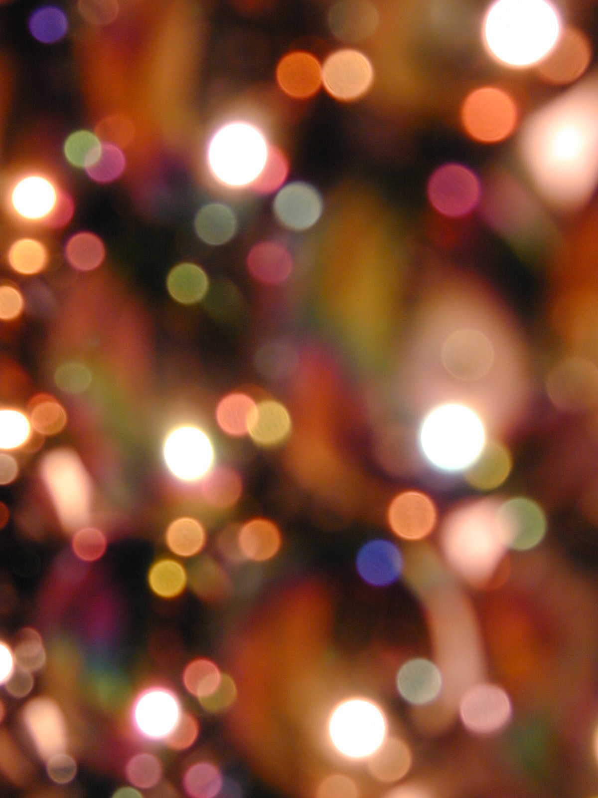 free image of soft focus of christmas lights and decorations