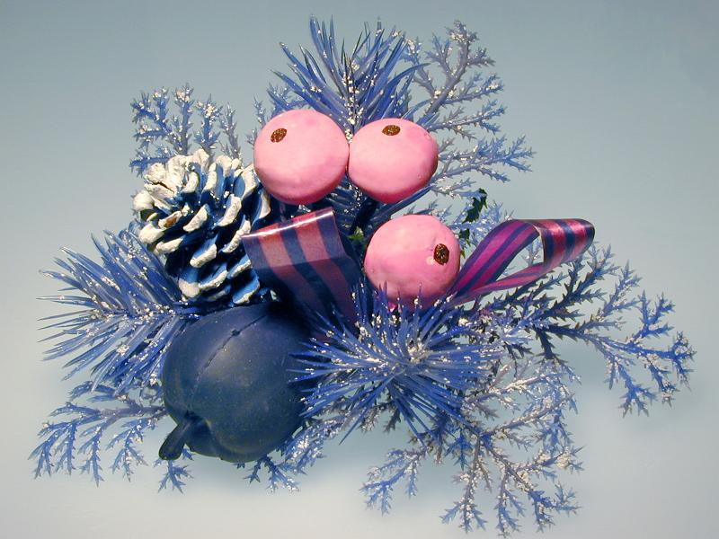 Festive Holiday decoration with pink berries