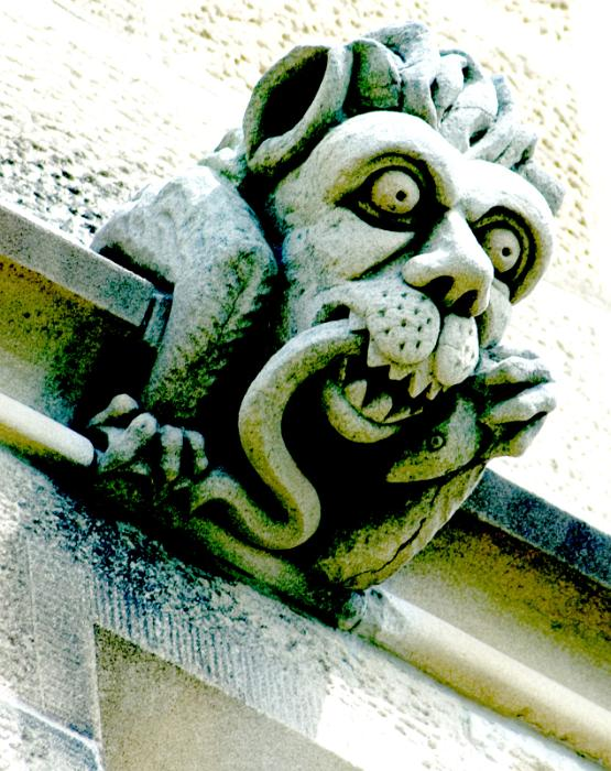 Free image of creepy stone grotesque
