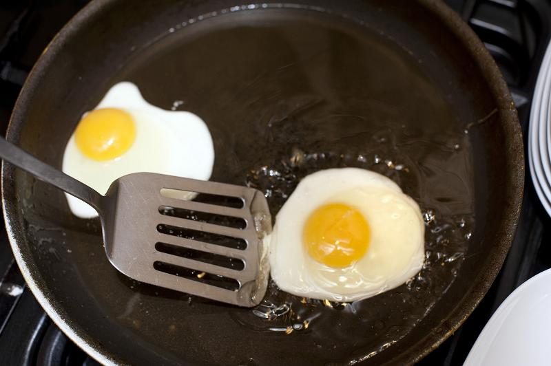 Free Image Of Frying Eggs In A Frying Pan