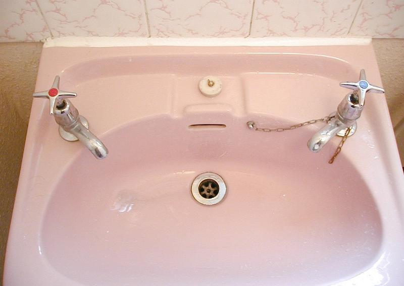 Coloured bathroom sinks