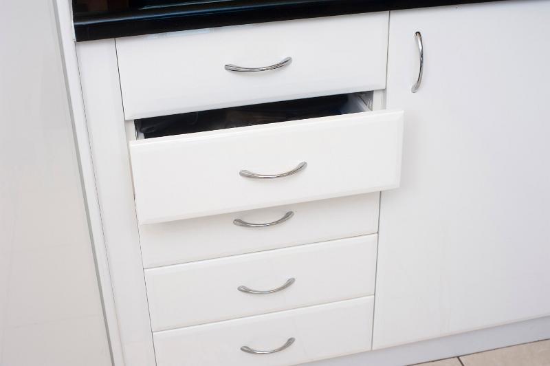 Free Image Of Set Of White Kitchen Drawers