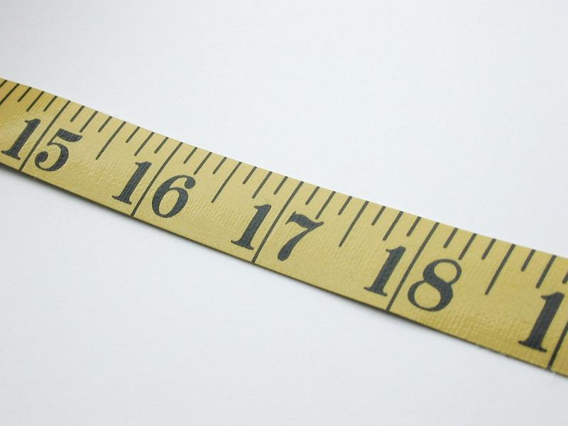 how to use a tape measure in inches