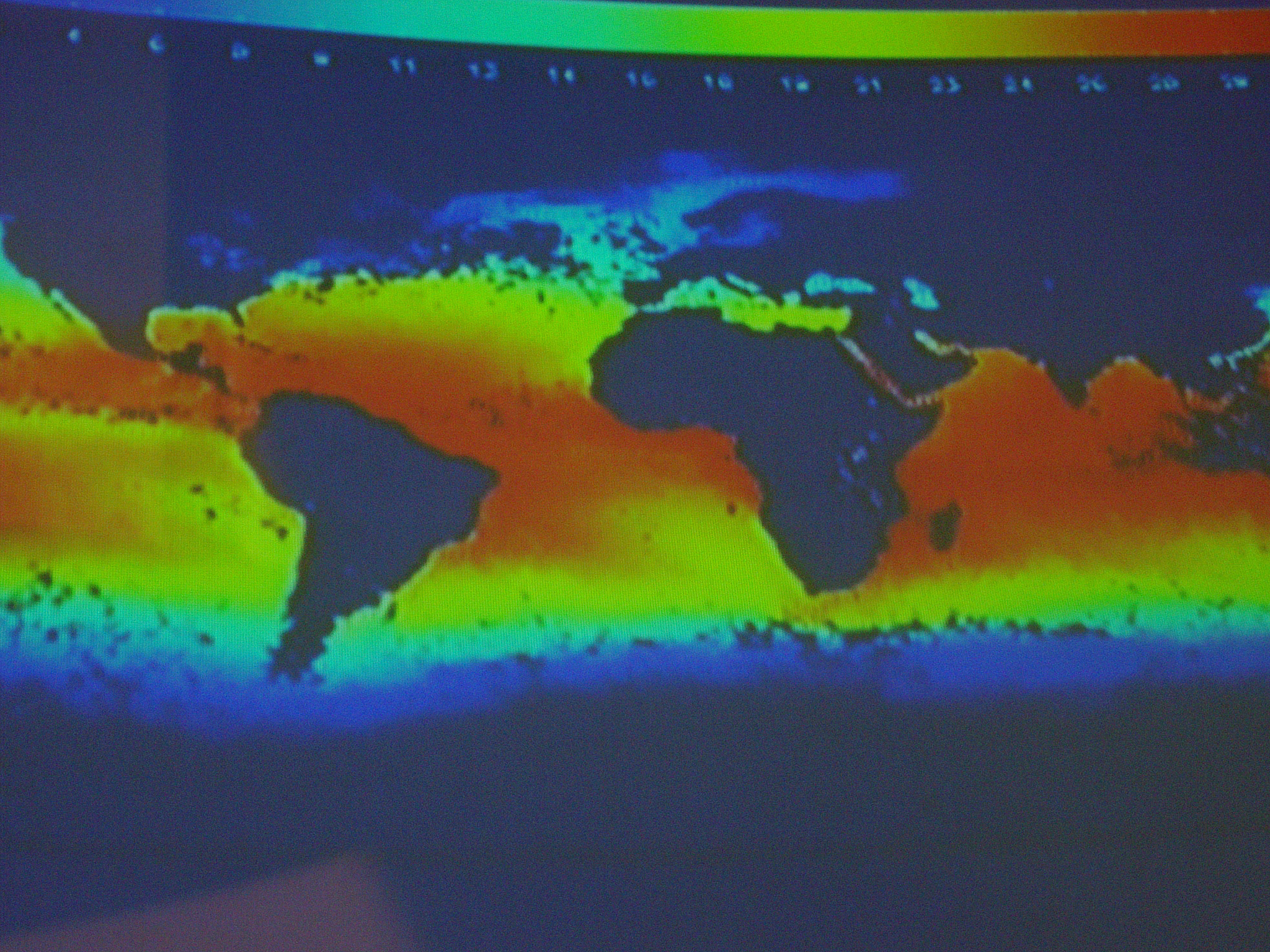 Thermal Map Of The World.Free Image Of Thermal Imaging On A World Map