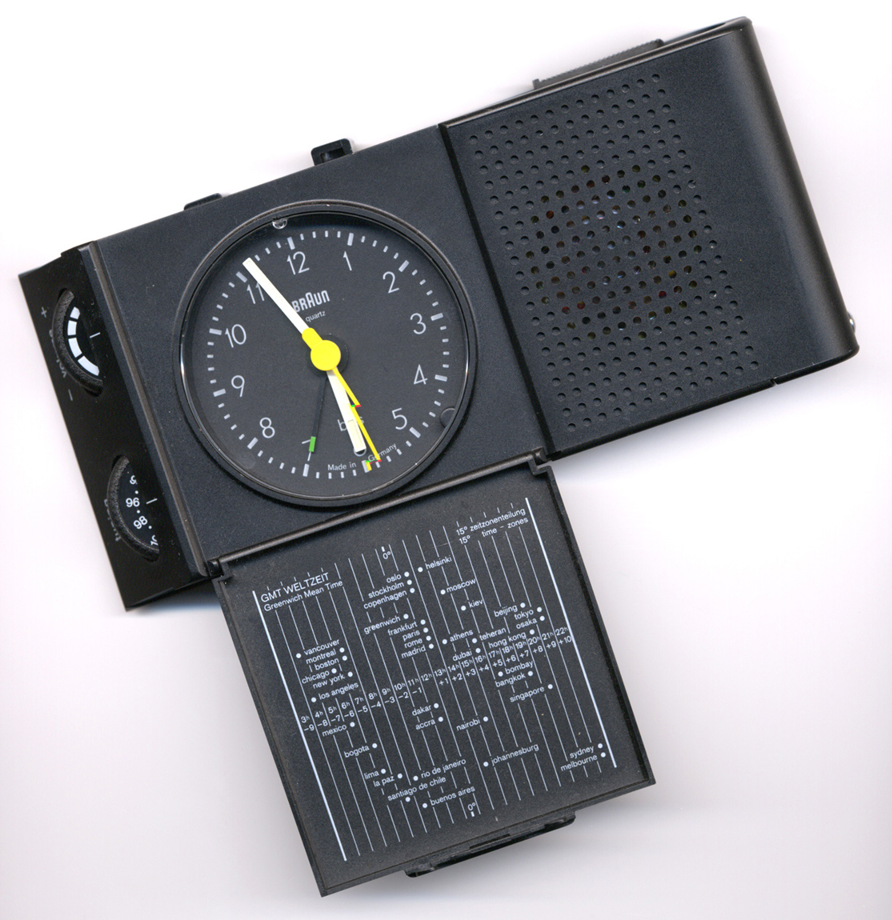 Free image of travel quartz alarm clock with world time zone map gumiabroncs Images