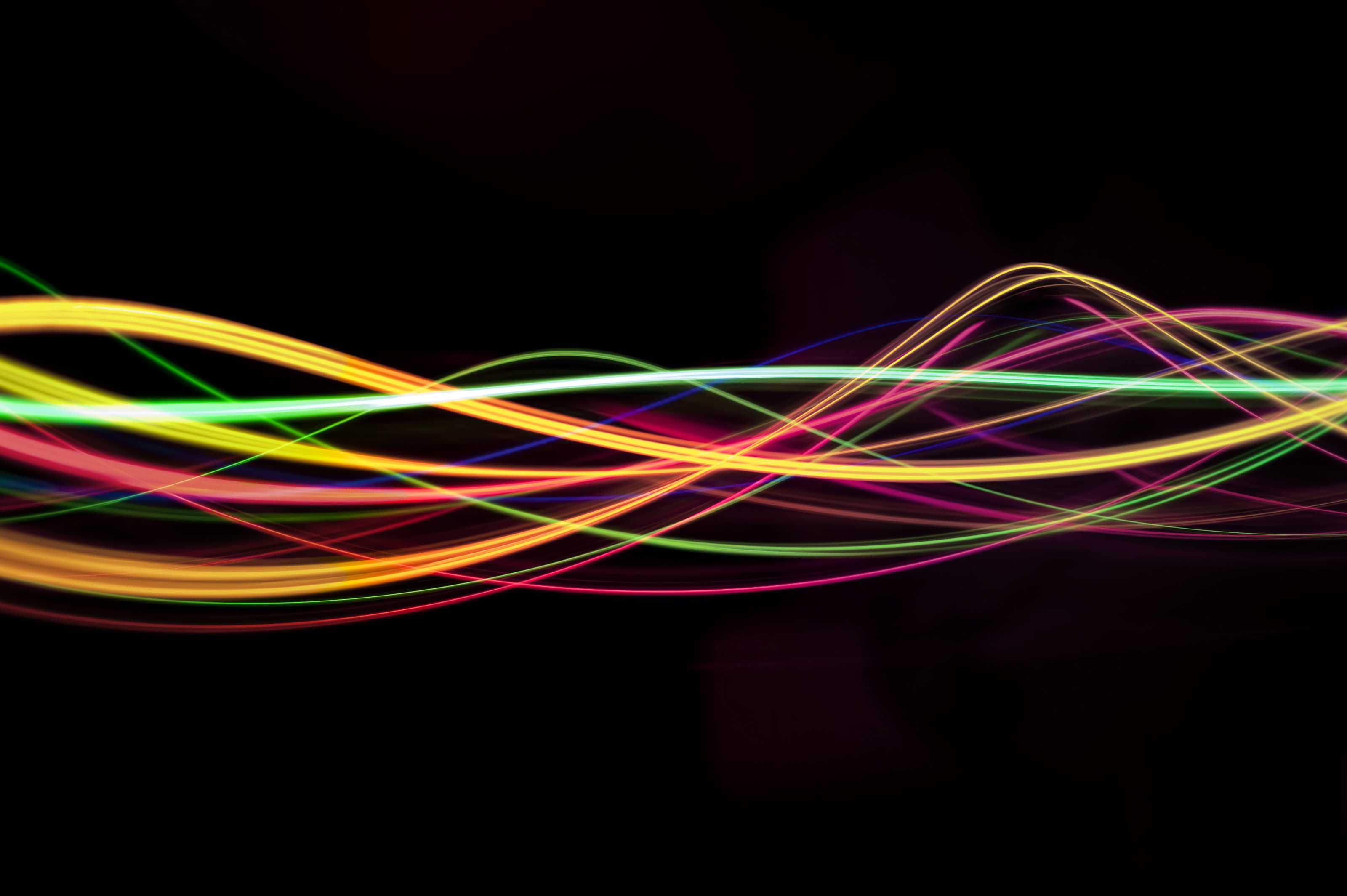 Electronic Music Wave Wallpaper