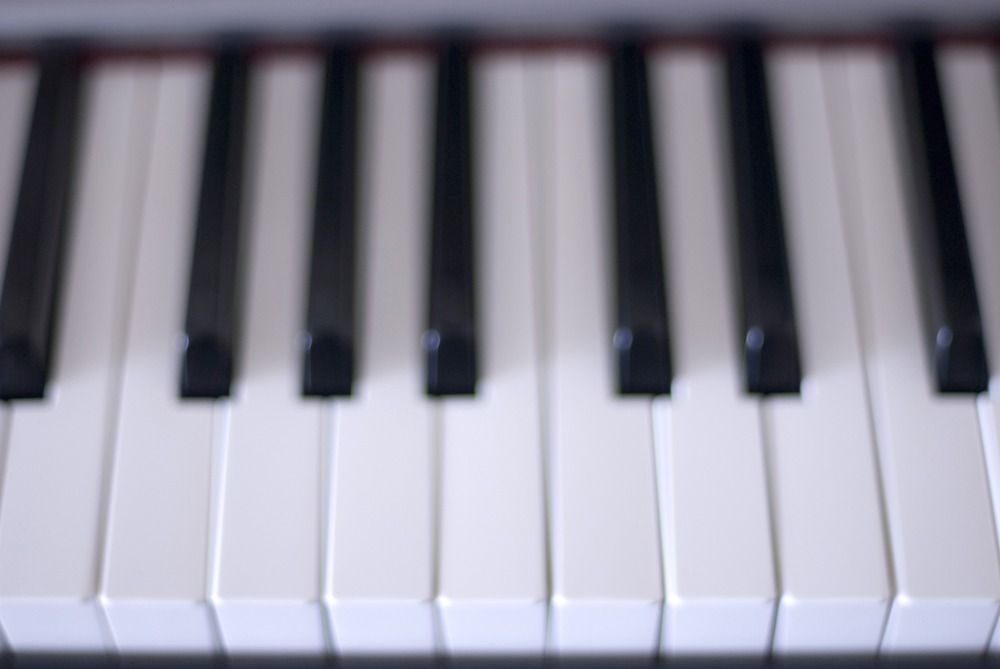 Full Piano Keyboard Keys on a piano keyboard