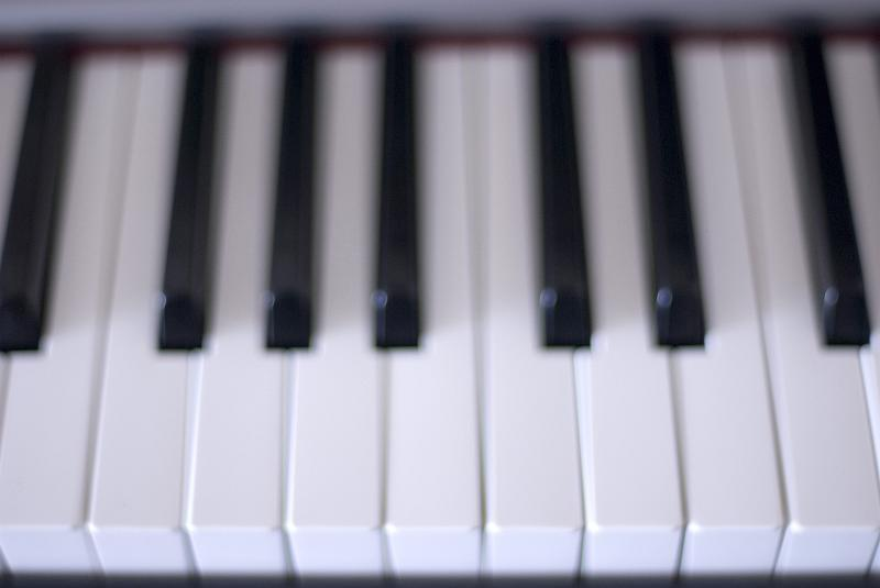 keys on a piano keyboard