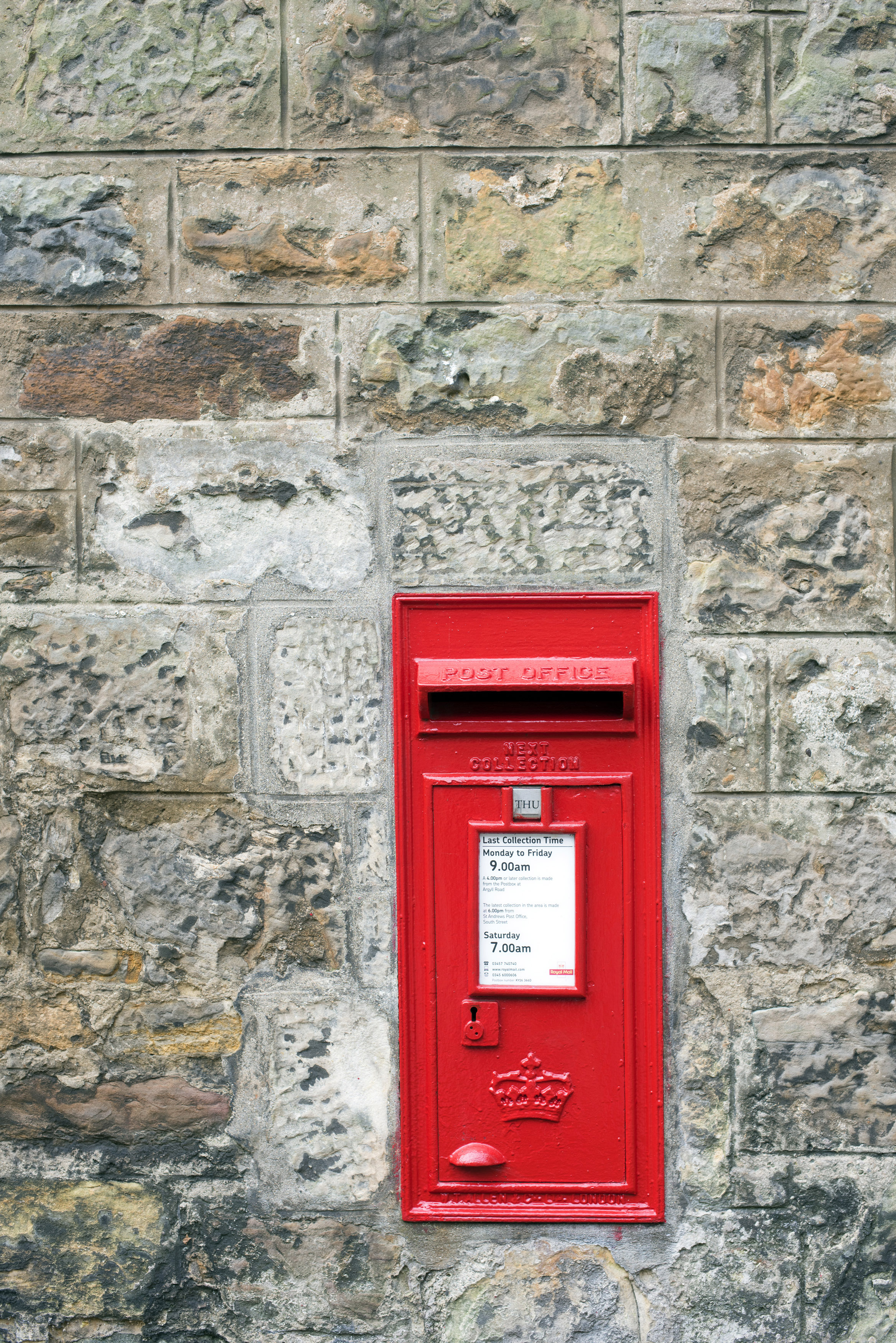 Royal Mail Letter Box.Free Image Of Red Royal Mail Letterbox In A Stone Wall