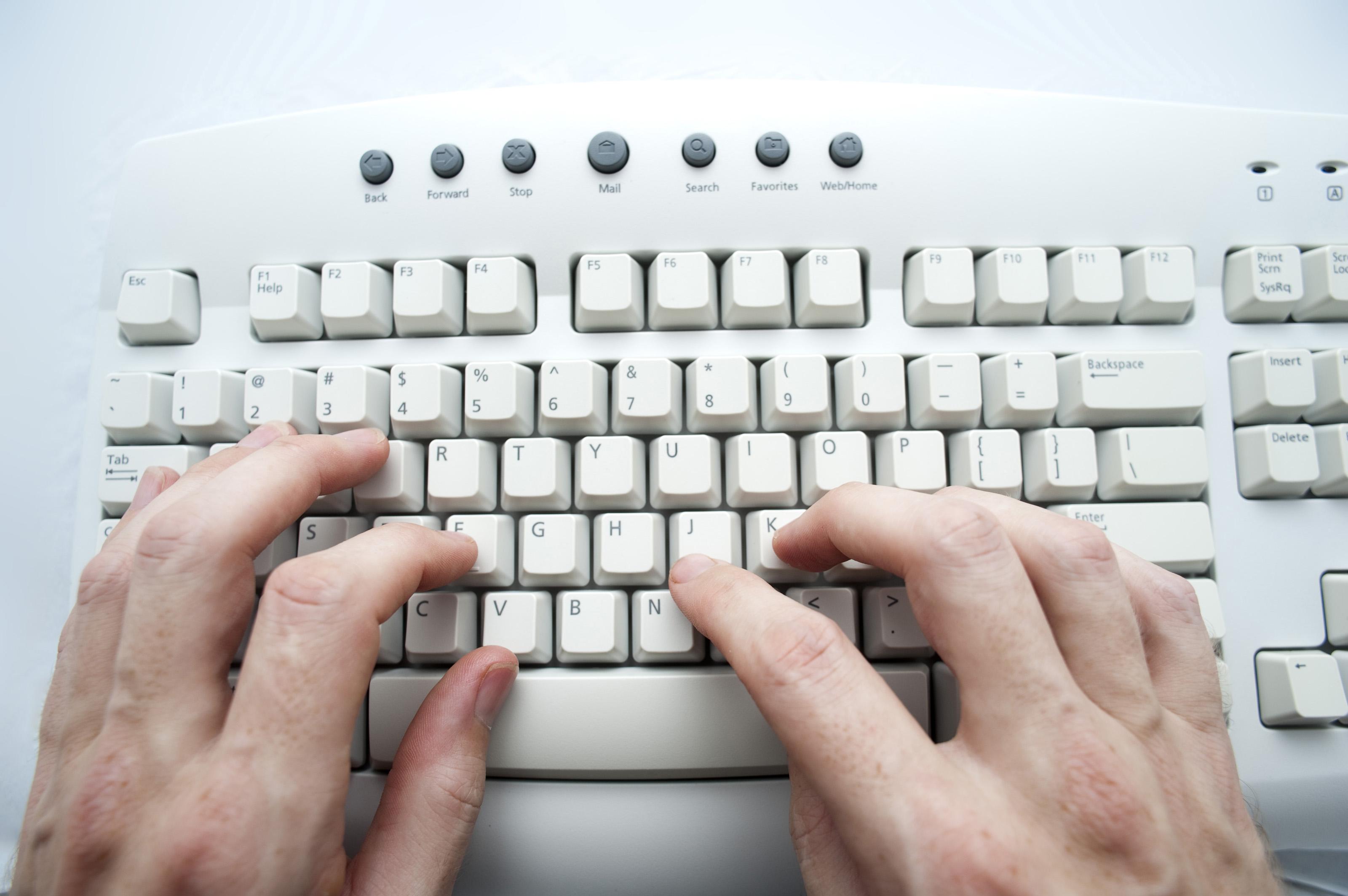 Free image of keyboard typing