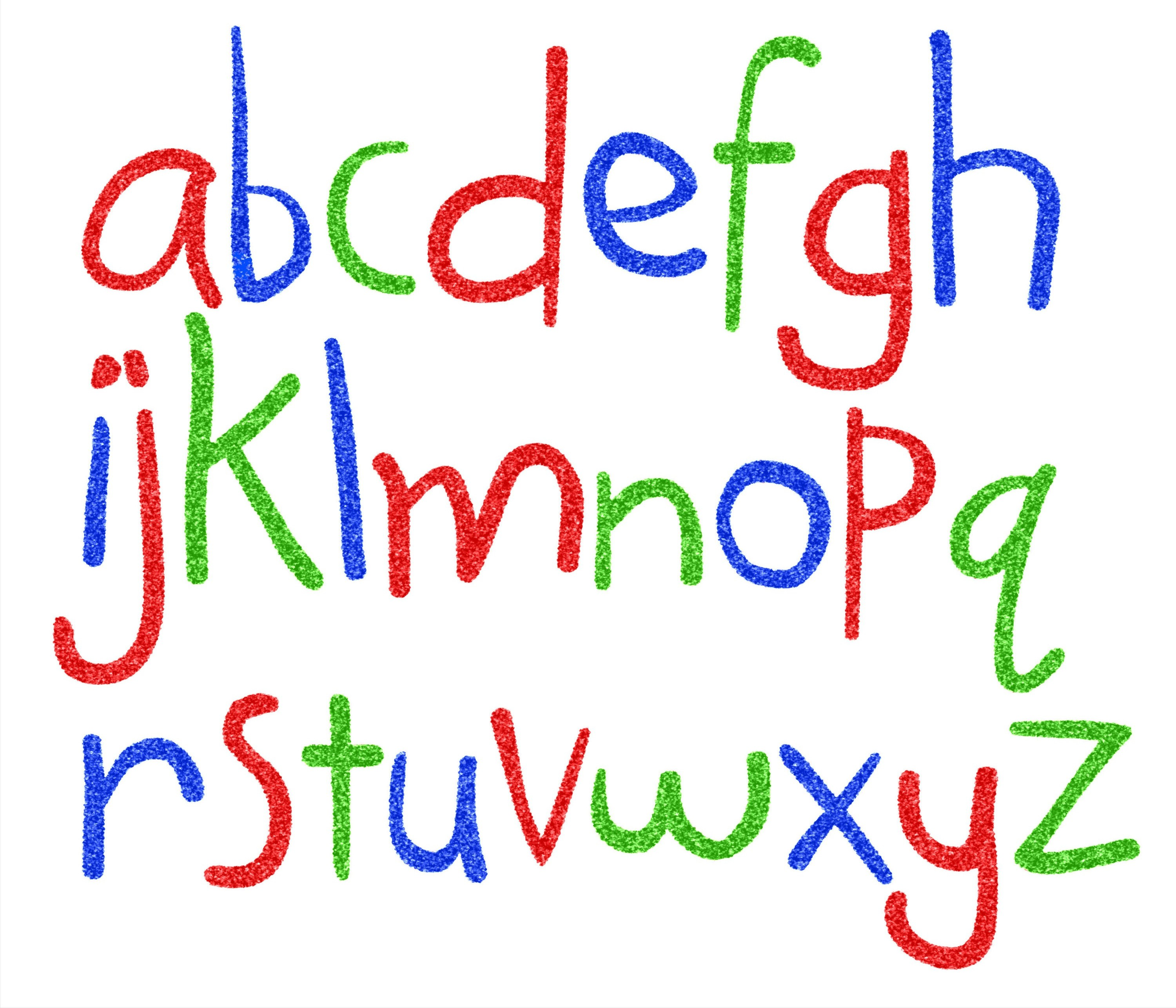 Free Funny And Cool Alphabet Clipart For Teaching Alphabets To Early