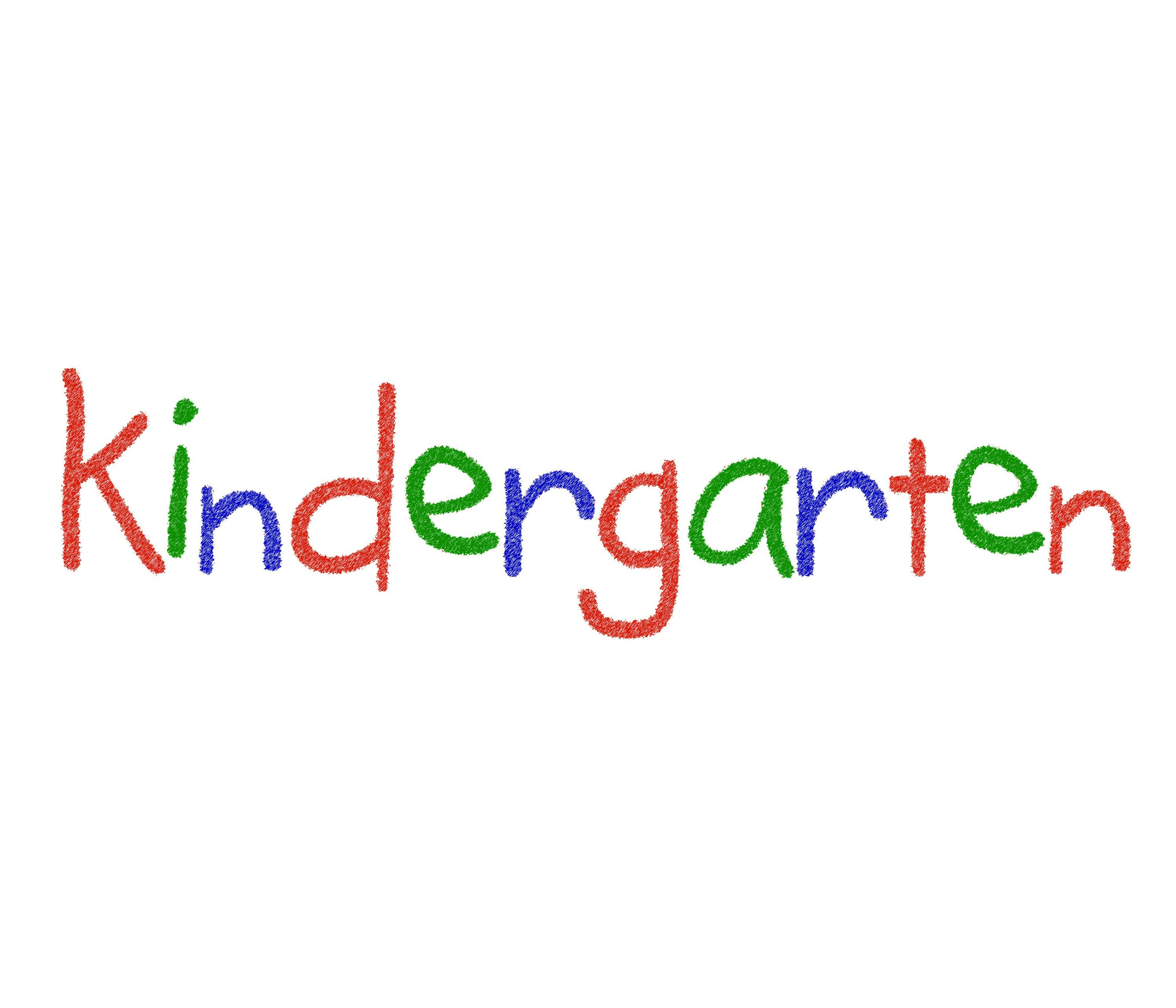 Free image of The word Kindergarten in bright colours