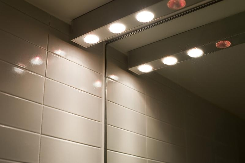 Halogen bathroom lights
