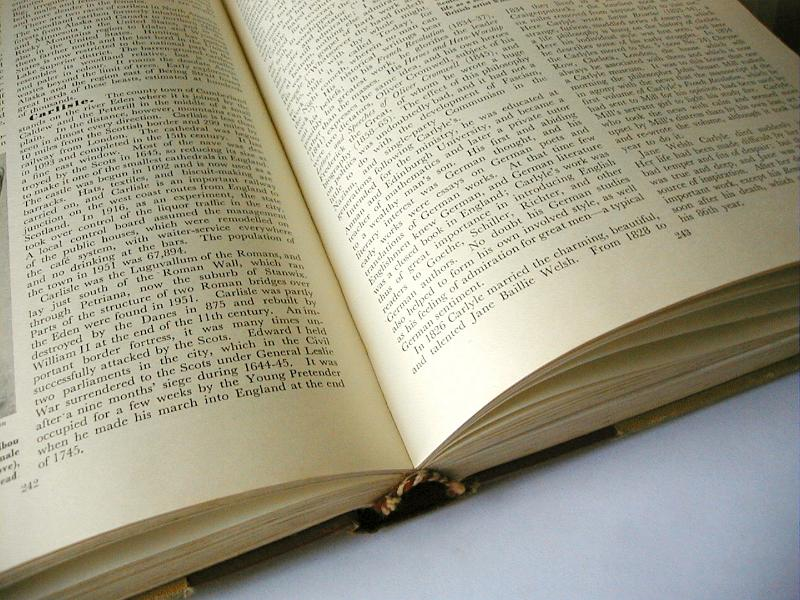 Free Image Of Open Printed Book Showing A Double Spread