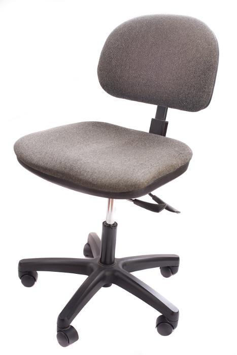 Image description upholstered brown swivel office chair on five