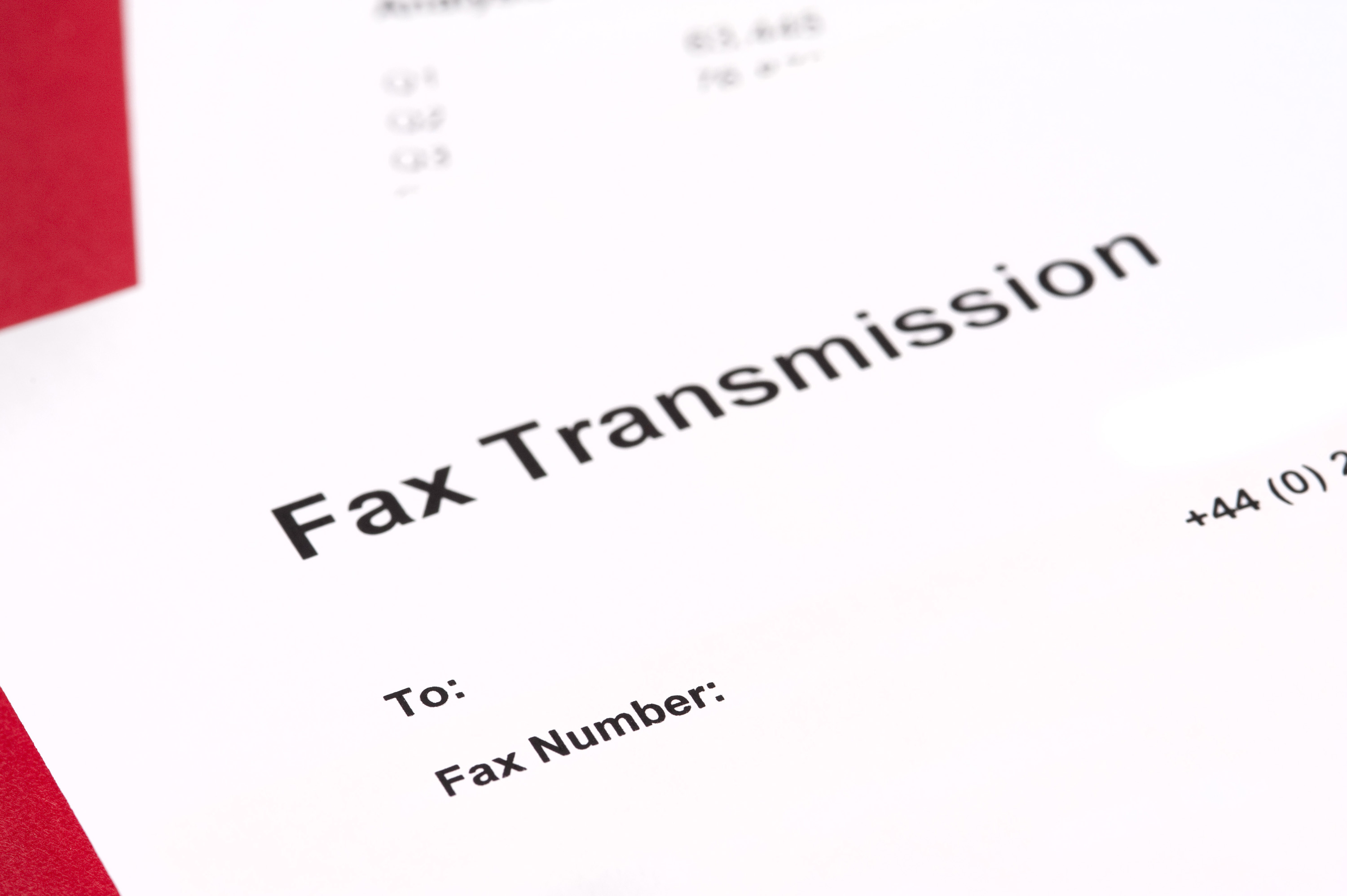 image of blank fax transmission form