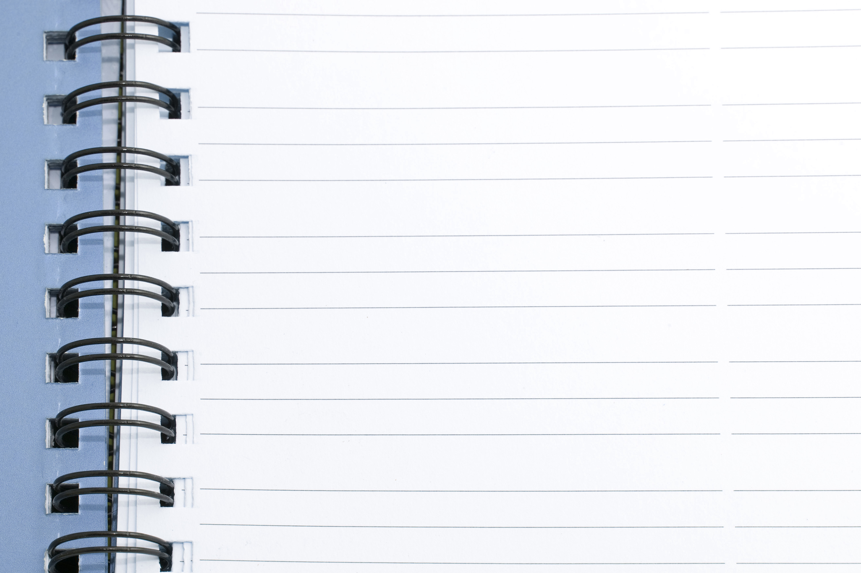 Free Image Of Blank Lined Notebook Page