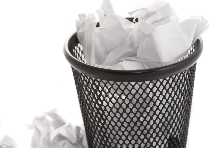 Wastepaper Basket Free Image Of Wastepaper Bin And Paper