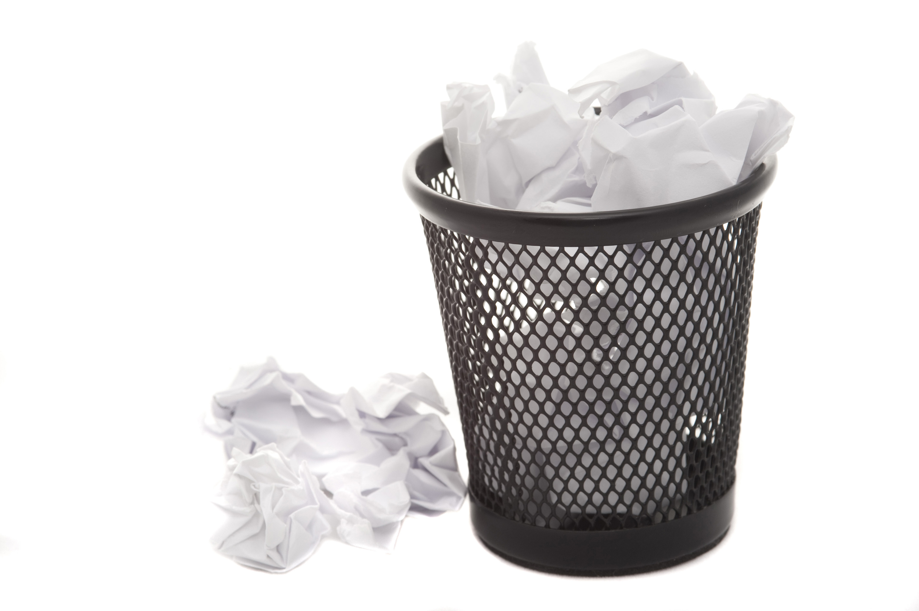 Wastepaper Basket Interesting Free Image Of Wastepaper Basket Filled With Crumpled Paper Design Ideas