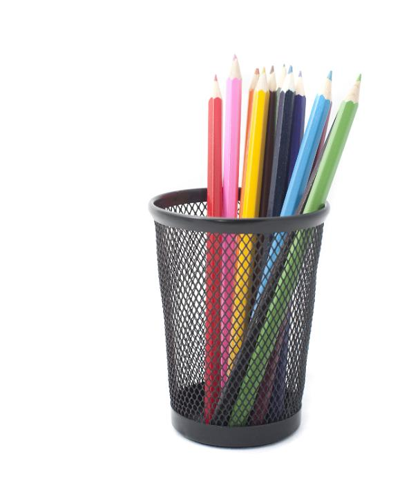 Free Image Of Colored Pencils In Black Pen Holder