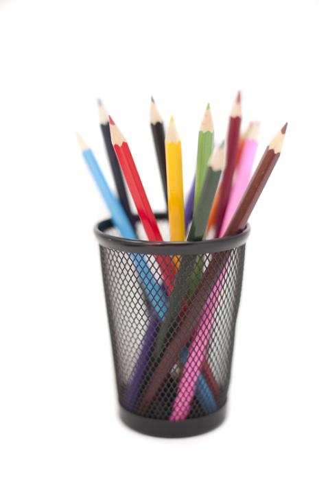 Free Stock Photo: Colored pencils in black pencil holder isolated on ...: www.freeimages.co.uk/galleries/workplace/office2/slides/coloured...