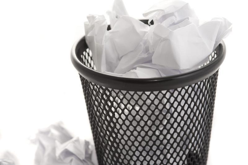 Free Image Of Wastepaper Bin And Paper