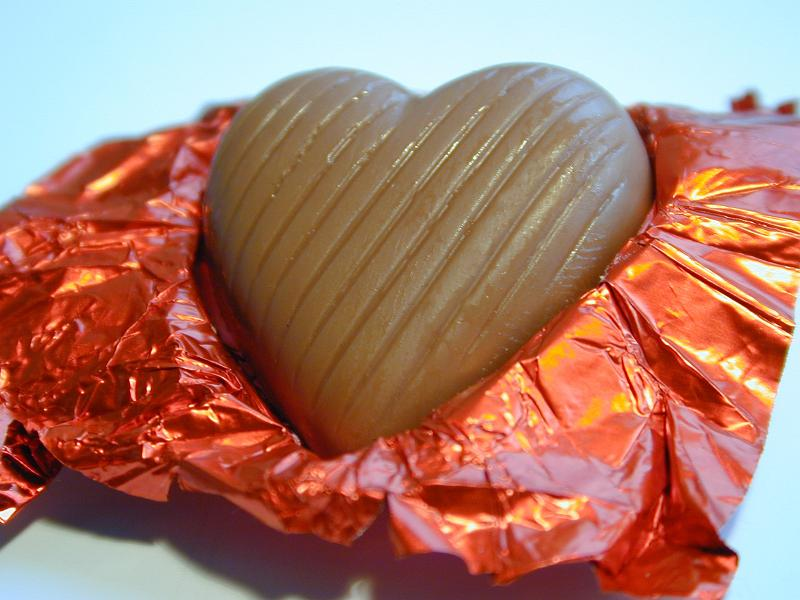 Free Stock Photo: sweet heart - a heart shaped valentine chocolate treat