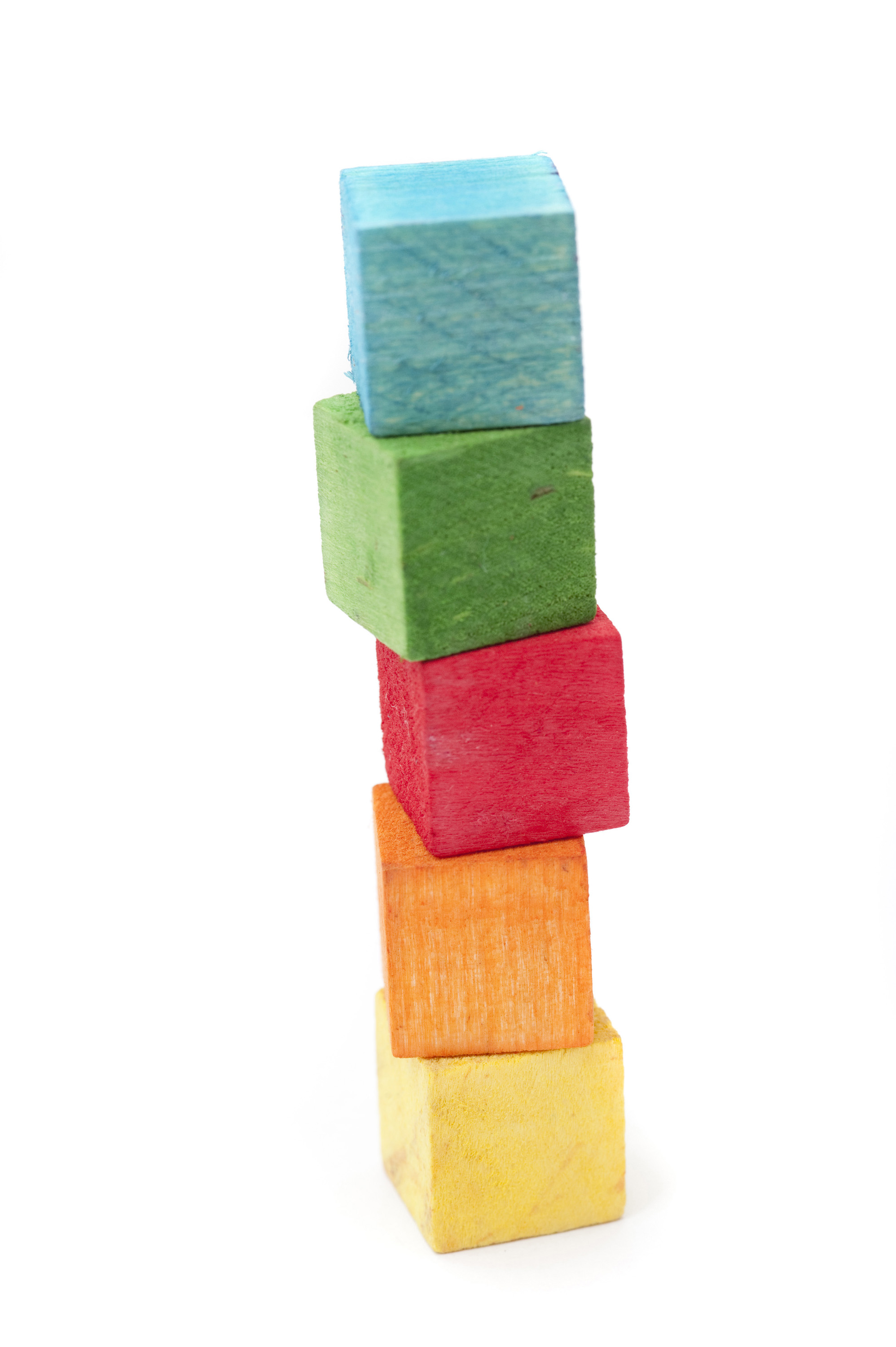 Free image of A tower of wooden building blocks